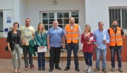 Visita al Urbaser, planta de reciclaje, Casares