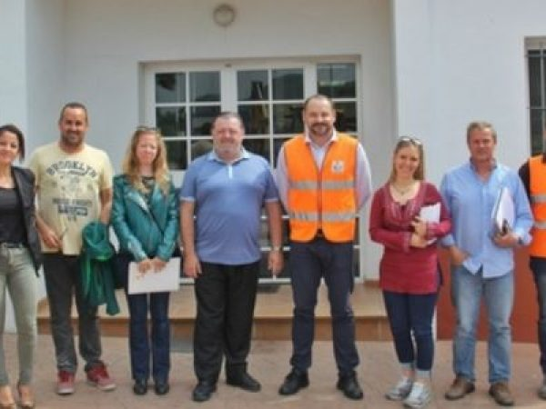 Visit to the Urbaser recycling plant, Casares