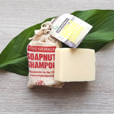 Solid shampoo bar lemon and avocado