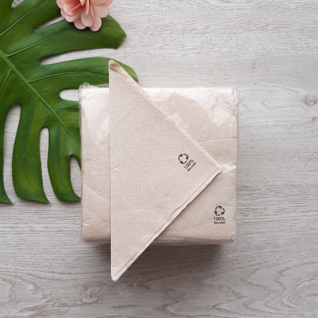Napkins / serviettes made from recycled paper