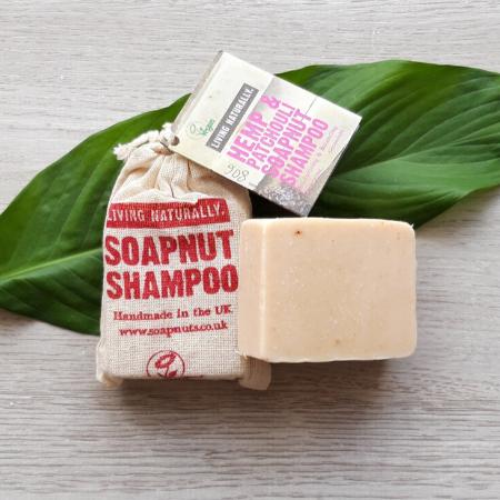 Soap Nut Shampoo Bar, Hemp & Patchouli 90g