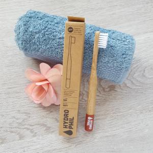 Cepillo de dientes de bambú para niños - Rojo