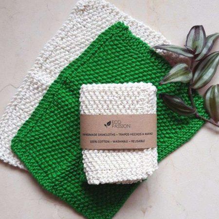 Handmade cotton dishcloths (pack of 2)