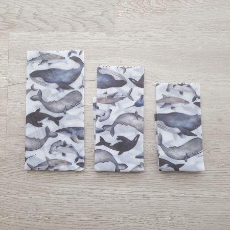 Reusable soya wax wraps set of 3