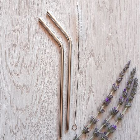 Stainless steel straws for eco friendly drinking