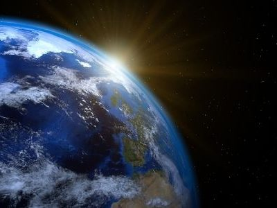The earth as seen from space
