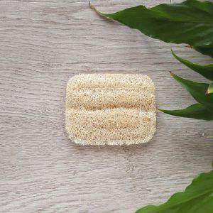Luffa soap dish