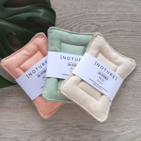 all three colours reusable dish washing sponge