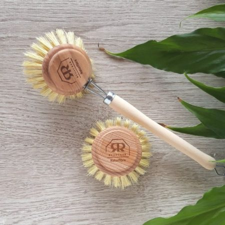 wash up brush with head wooden natural